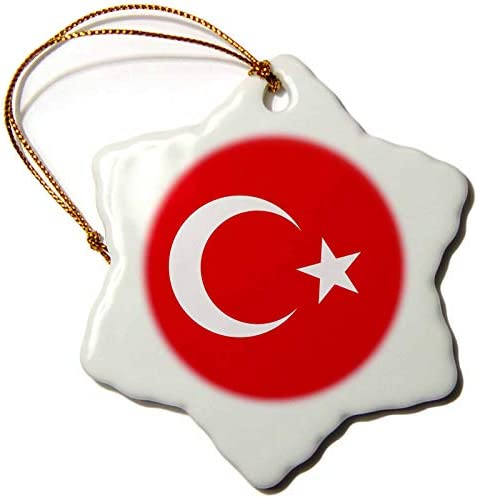Amazon Com 3drose Orn 159817 1 Flag Turkey Turkish Red And White Crescent Moon And Star Anatolia Asia Minor Country Snowflake Ornament Porcelain 3 Inch Home Kitchen