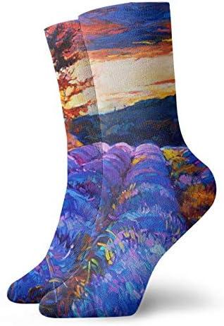 Sokken AssortedColor Planten Sport Atletische Sok Casual Sokken Warmer Polyester Crew Tube Kousen 118 inch Voor Man Vrouw