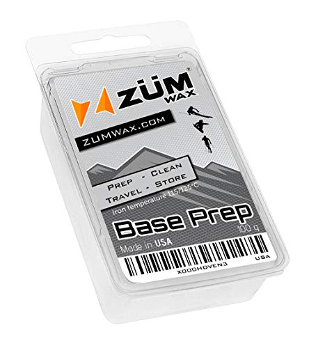 ZUMWax Ski/Snowboard Wax - Base Prep/Clean/Travel/Store - 100 Gram - Excellent Storage & Travel Wax