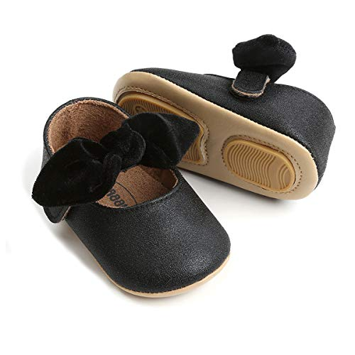 Infant Black Crib Shoes