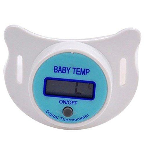 NAttnJf Thermometer baby Schnullerthermometer Baby-Säuglings-LCD-Digital-Schnuller-Sicherheits-Gesundheits-Nippel-Temperatur-Thermometer Blau Anzeige Celsius