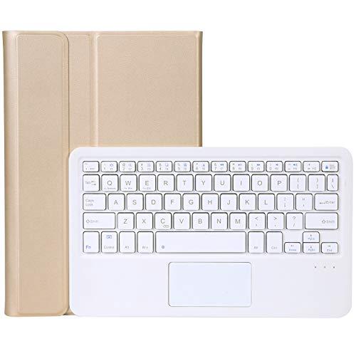 None/Brand Funda de teclado inalámbrico Bluetooth para Lenovo Tab M10 Plus 10.3' [Modelo: TB-X606], funda protectora de piel de oveja fina, teclado extraíble y ratón táctil