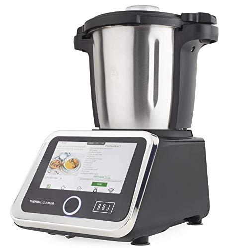 BOJ Robot de Cocina MC-2000 para Seguir Paso a Paso Sus 150 Recetas y en la App My Chef 100 Recetas de Arguiñano y la Posibilidad de Guardar Tus propias Recetas
