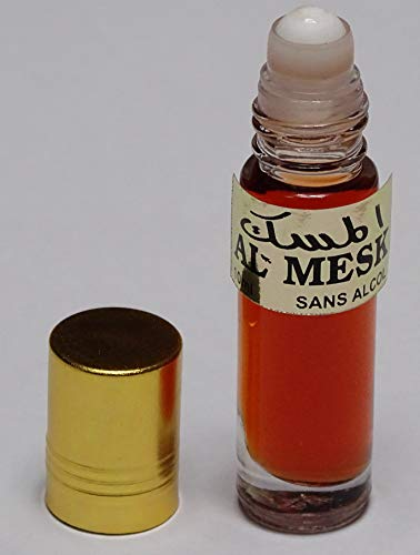 Botella cristal con roll on de 10 ml de perfume-aceite de Musk (Almizcle árabe) sin alcohol