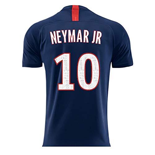 Abito da Calcio Sportivo 19-20 Stagione Uniforme da casa e da Calcio Tuta t-Shirt Sportiva + Pantaloncini Sportivi-Neymar JR-L
