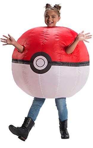 Rubies 641088NS Disfraz inflable de Pokémon Poke, para niños de 8 a 10 años