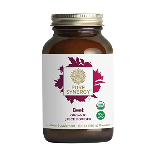 Pure Synergy USDA Organic Beet Juice Powder (6.35 oz) w/Naturally Occurring Nitrates, Non-GMO