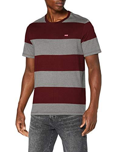 Levi's SS Original HM tee Camiseta, Rogby Stripe Sassafras, L para Hombre