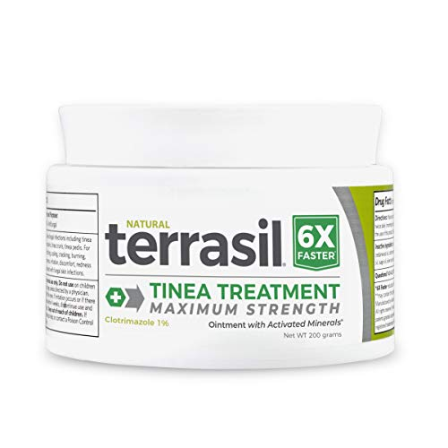 Terrasil Tinea Max 200gm Jar – 6X Faster Relief Natural Anti-Fungal Ointment for Tinea Versicolor, Corporis, Cruris and Pedis