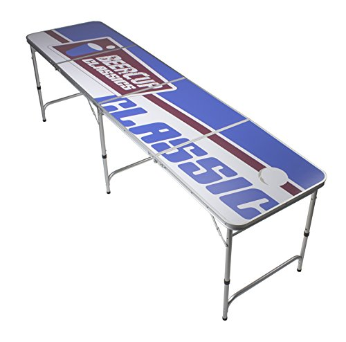 Beer Pong Tisch - Logo Table Design - Silver Line Beer Pong table