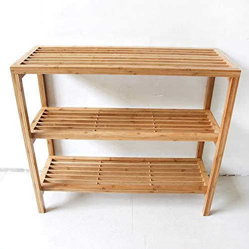 SXFYWJ Estante de Zapatos de 3 Capas Estante de Zapatos de bambú Estante de Almacenamiento Multifuncional Adecuado para Pasillo Sala de Estar Dormitorio 80 * 90 * 33 cm