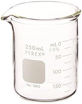 Pyrex 1003-250CN Heavy Duty Griffin 1003 250mL Beaker Double Scale Grad Glass
