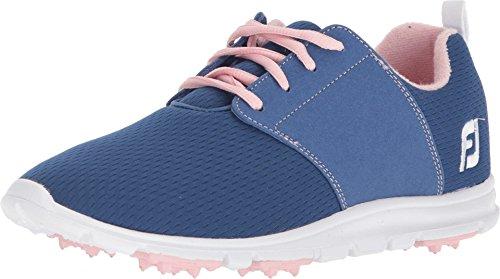 FootJoy Women's Enjoy-Previous Season Style Golf Shoes Blue 7 M Pink, US