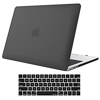 ProCase MacBook Pro 13 Case 2016-2020 Release A2338 M1 A2289 A2251 A2159 A1989 A1706 A1708 Hard Case Shell Cover and Keyboard Skin Cover for MacBook Pro 13 Inch with/Without Touch Bar –Black