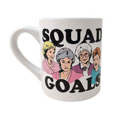Silver Buffalo Golden Girls Squad Goals Group 14-Oz Ceramic Coffee Mug, multicolor (GOL52032)