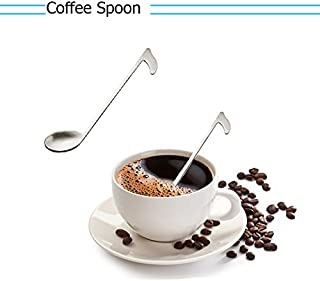 3 piezas accesorios música Nota cuchara de café acero inoxidable de hielo té café cóctel cucharillas cuchara para mezclar Cute Cute Creative