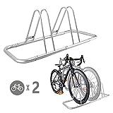 B121 NinoLite 自転車 2台分 スタンド 収納でスペース節約 組立ては超簡単 日本語取り扱い説明書付き 自転車が多い方必見! 店舗や会社等で大活躍