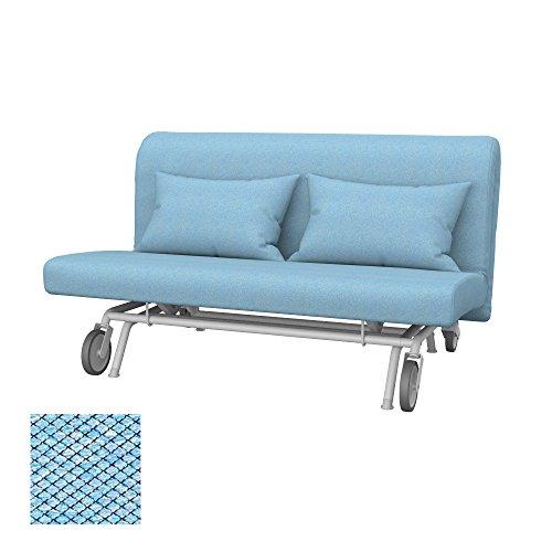 Soferia - IKEA PS Funda para sofá Cama de 2 plazas, Nordic Blue