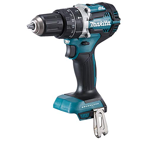 Makita DHP484Z 18V Brushless Li-Ion Perceuse Visseuse à Percussion sans Fil - sans Batterie Ni Chargeur, Bleu