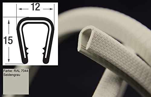 KS6-8HG Kantenschutzprofil von SMI-Kantenschutzprofi - PVC Gummi Klemmprofil mit Stahleinlage - Kantenschutz - Hellgrau - selbstklemmend ohne Kleber Klemmbereich 6-8 mm (1 m, hellgrau)