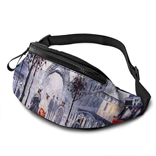 Fantastic Fairy Stylish Paris Street Eiffel Tower Waist Pack/Fanny Pack/Travel Bag for Men Women Outdoors Sports Marathon Hiking