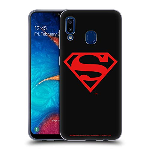 Head Case Designs Officially Licensed Superman DC Comics Black and Red Logos Soft Gel Case Compatible with Samsung Galaxy A20 / A30 2019