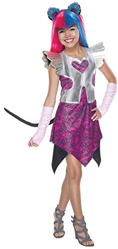 Disfraz de Catty Noir Monster High Classic Para Niña - 5-7 Años