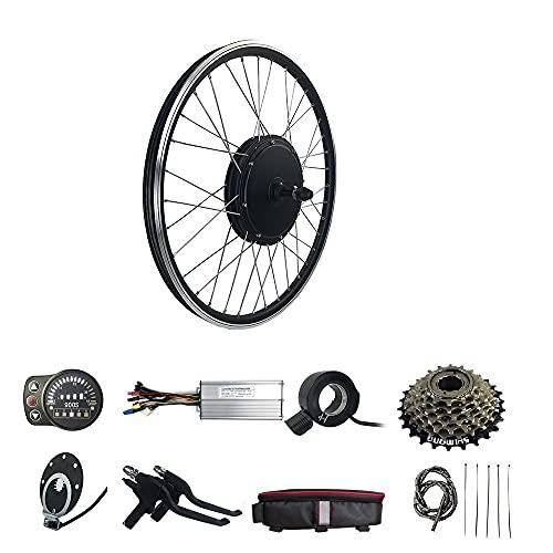 Kit de conversión de rueda trasera SCHUCK, 48 V, 1500 W, rueda de 26 pulgadas, pantalla LED900S