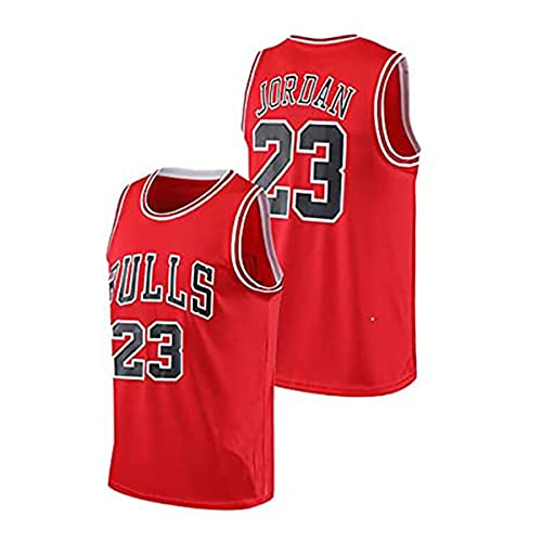 YMFZYM Michael Jordan 23-NBA Bulls Jersey Hombres Adultos Baloncesto Jersey Transpirable Usable Bordado Camiseta de los Hombres,Rojo,XL