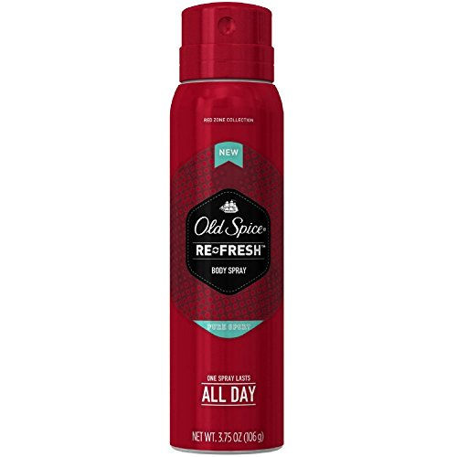Old Spice Red Zone Re-Fresh Body Spray, Pure Sport 3.75 (Pack of 4)