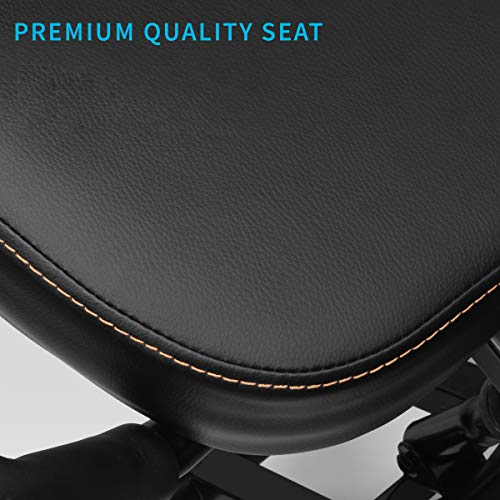 DRAGONN by VIVO Ergonomic Kneeling Chair with Back Support, Adjustable Stool for Home and Office with Angled Seat for Better Posture - Thick Comfortable Cushions, Black, DN-CH-K02B