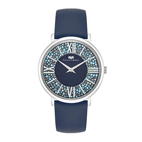 Rhodenwald & Söhne Reloj para Mujer análoga Japón Cuarzo con Correa de Cuero Real Decorado con cristalles de Swarovski 10010330