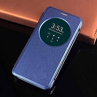 Flip Cases - Flip Cover Smart View Leather Phone Case For Zenfone 3 ZE520KL ZE552KL ZE 520KL 552KL 520 552 KL (Blue zenfon...