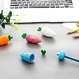 Lindo sacapuntas de zanahoria maquillaje kawaii niños regalo de promoción útiles escolares de oficina papelería, aleatorio 1 unid