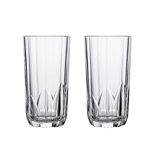 Vaso Taza de Cerveza Gafas de Whisky con Taza de Cristal de Bebidas De Base Pesada para Coctails de Cerveza Whisky Cristalería (Color : Clear2×2)