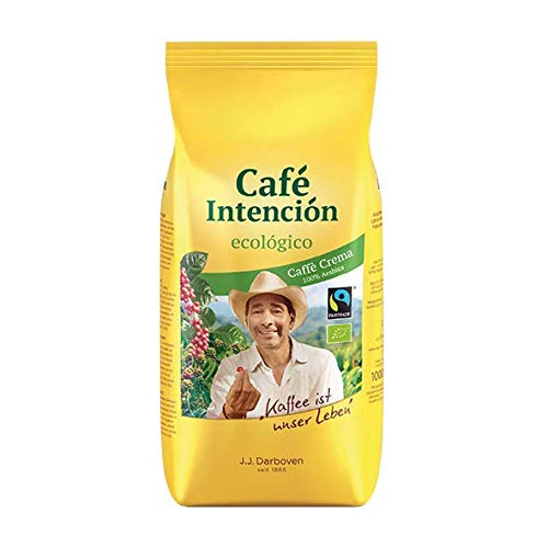Fairtrade J.J.Darboven Café Intención ecológico Café Crema, Bio-Kaffee, Ganze Bohne - 1kg - 4x