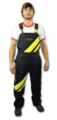 DT Scratch Pants with Adjustable Suspenders, Black/Yellow, X-Large (Size: 38-Inch)