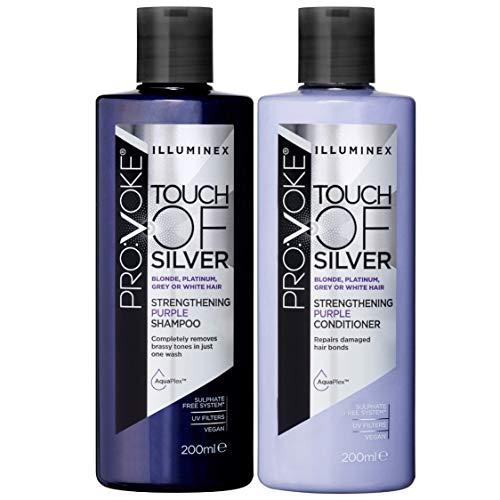 PROVOKE Illuminex Touch van Blonde Verlichting Blonde Shampoo en Conditioner Zilveren Versterking Paars Shampoo & Conditioner