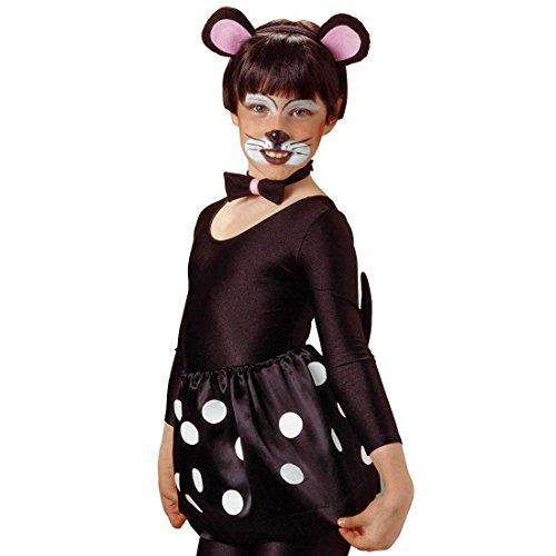Amakando Disfraz infantil de ratn, orejas, pajarita y cola, disfraz infantil de ratn, disfraz de animal, para nia