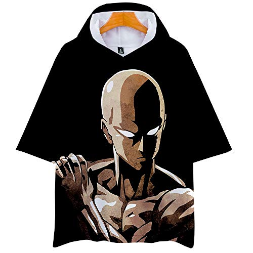One Punch Man Season 2 3D Impresión Anime Hoodie T-Shirt Cosplay Manga Corta Camiseta Verano Pullover Tops Sudadera con Capucha