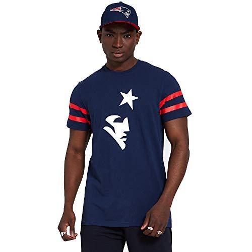 New Era New England Patriots NFL Shirt Jersey American Football Fanshirt Trikot Blau - L