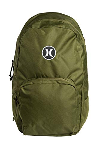 Hurley Herren U Bloke SOLID Backpack Rucksack, Legion Green, 1SIZE