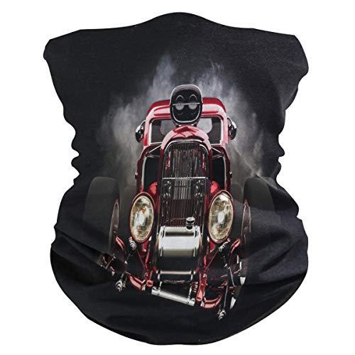 Alarge - Pañuelo para la cabeza, suave, diseño vintage de tren ahumado, transpirable, pañuelo para la cara, polvo, máscara de protección solar, polainas, pasamontañas para niños y niñas
