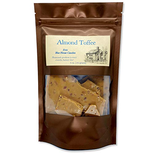 Almond Toffee, Gourmet Small Batch Sweet Buttery Goodness, 6 oz