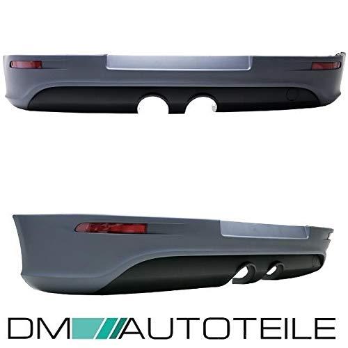 DM Autoteile Heck Diffusor Stoßstangeneinsatz + Hitzeblech + Reflektoren für Golf 5 V R32