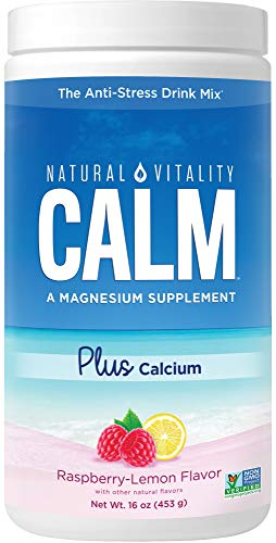 Natural Vitality Calm   No1 Selling Magnesium Citrate PLUS Calcium, Anti-Stress Magnesium Supplement Drink Mix, Raspberry-Lemon, Vegan, Gluten Free, Non-GMO (Package May Vary), 16 Oz 113 Servings