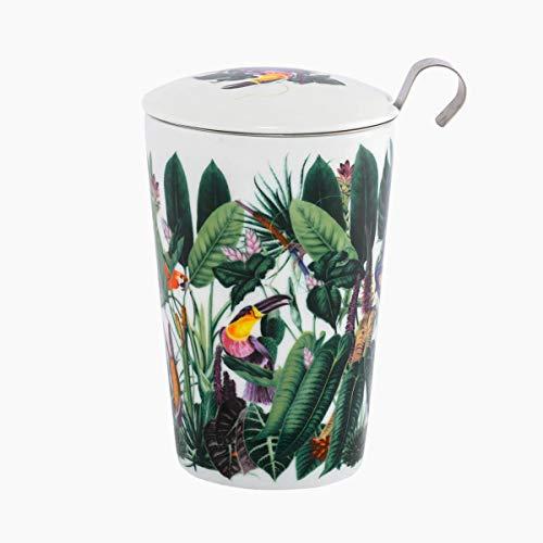 Eigenart TEAEVE Teetasse, Becher mit Sieb + Deckel, Rainforest im Geschenkkarton