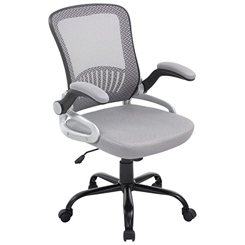 Poly and Bark Hargrove Office Chair in Mesh, Grey