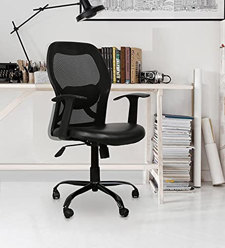 TIMBER CHEESE Ergonomic MESH Executive Chair in Black (with Warranty, Make in India) (MID Back)
