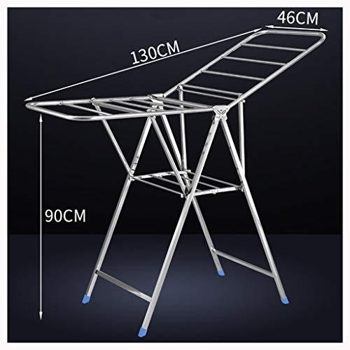 Lhh Pieghevole Stendino Stendibiancheria Compatto Ali Laterali 2 Asciugatore Alluminio per Il Balcone Camera da Letto Soggiorno (Size : 1.4m)